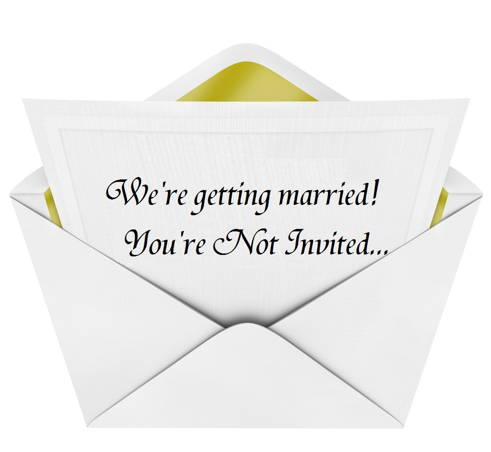 Etiquette For Wedding Gifts When Not Invited : learned about an appalling new wedding trend called the Non Invite ...