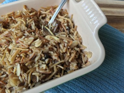 Noodles and Rice with Toasted Almonds
