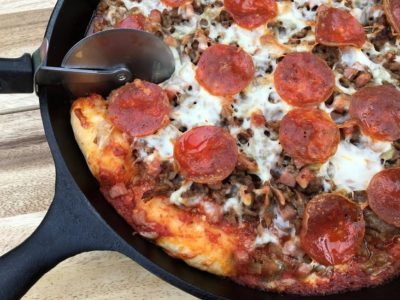 Shellie's Deep Dish Skillet Pizza