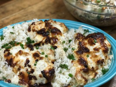 Parmesan Chicken with Rice